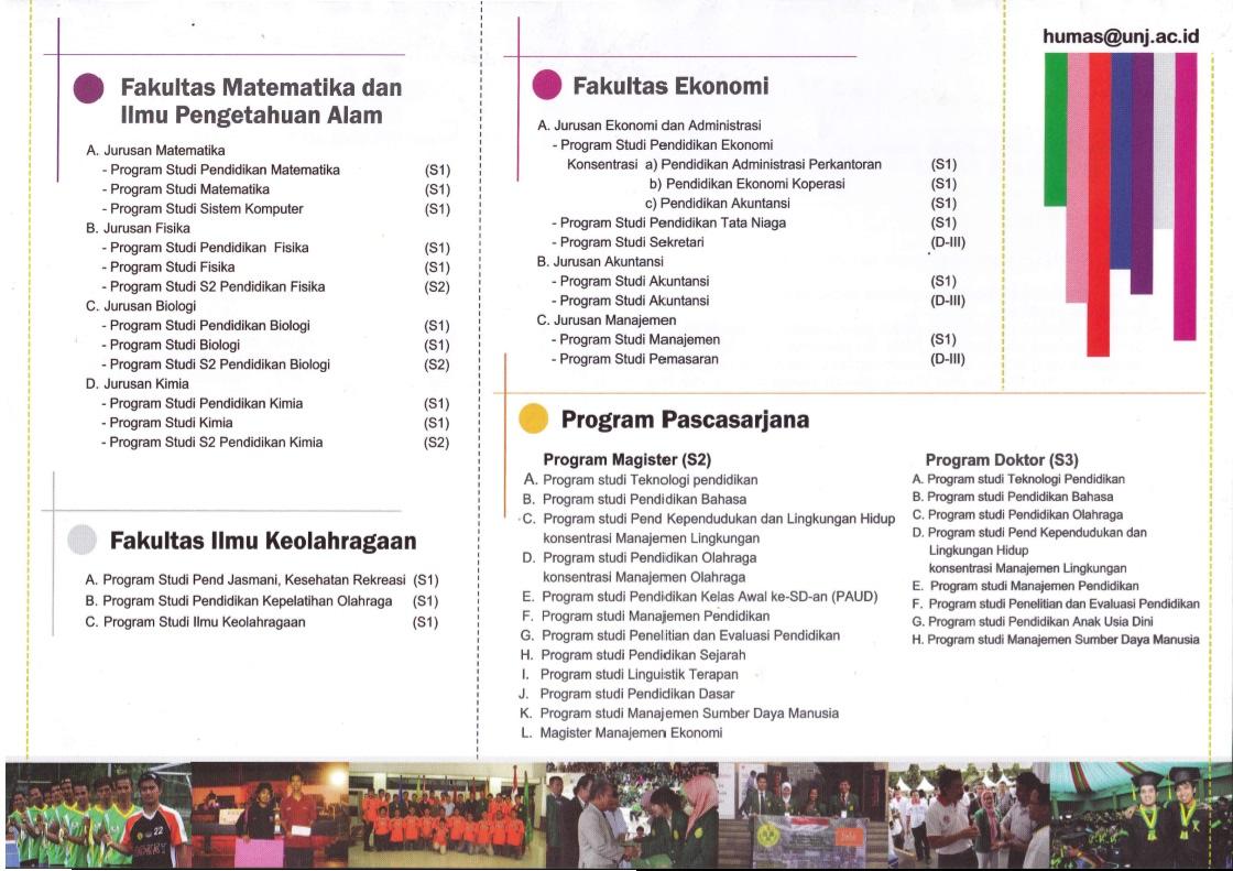 Pamflet Jalur Masuk Unj 2013 Mahasiswa Lampung Unj